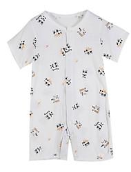 Girl's Clothing Set,Cotton Summer / Spring White