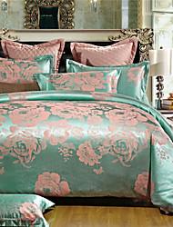 Blumen Baumwolle 4 Stück Bettbezug-Sets