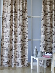 Two Panels Modern Characters Living Room Polyester Blackout Curtains Drapes