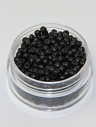 Dark Brown Silicon Nano Ring Beads Small Loop Micro Links Tubes for Nano Ring Hair Extensions 1000pcs/color/lot