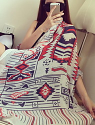 New Winter Wind National  Cotton Printed Totem Shawl Scarves
