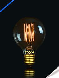 G80 40W Vintage Pearl Tungsten Tungsten Bulb Edison Glass