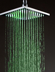Monochrome LED Shower Nozzle Top Spray Shower Nozzle (Green)