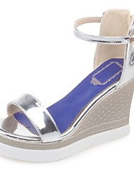 Women's Shoes Wedge Heel Platform Sandals Party & Evening / Dress / Casual Silver / Gold / Bronze