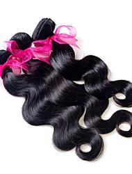 """3pcs / lot 300g de qualidade superior brasileiras extensões de cabelo virgem preto natural onda do corpo cabelo tecer 8 """"-26"""" venda"""