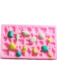 Mini Gem образный помады торт шоколадный силиконовые формы, кекс украшения инструменты, l12cm * w7.5cm * h1cm