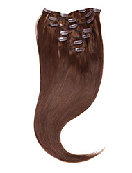 "Neitsi® 20"" 7pcs Set 100% Real Remy Clip in Human Hair Extensions Straight  Virgin Ombre Hair 4#"