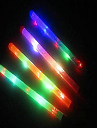 LED Foam Sticks Light Up Button Multi-Color Raves Tube Soft Blinking (Colors Random)