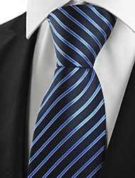New Striped Blue Formal Business Men's Tie Necktie Wedding Holiday Gift #1031