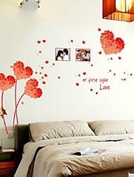 2016  Wall Stickers Home Decor Diy Grass Love Red Poster Frames Decorated Living Room Bedroom Wall Stickers