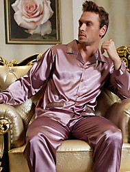 Men's Satin Pajamas / Silk Pajamas