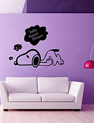 Sleeping Puppy Bedroom Wall Stickers Vinyl Home Wall Decor Decals Diy Poster Vinilos Paredes Quality First