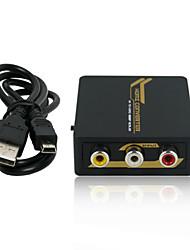 composiet naar HDMI converter ondersteuning PAL / NTSC selectie 1080p 3d met CE FCC Rosh certificaten