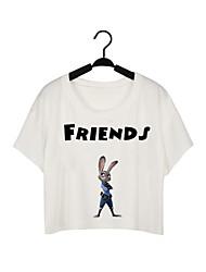 Zootopia/Judy/T-Shirt/ Woman Female Top/Short-Sleeve Top/Short Sleeved Blousef1741