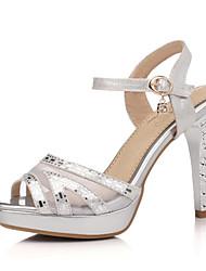 Women's Spring Summer Fall Glitter Wedding Dress Casual Party & Evening Stiletto Heel Silver Gold