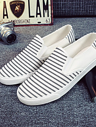 Men's Shoes Casual Canvas Loafers Black / Blue / White