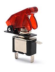 5pcs 12v 20a couvercle led rouge rocker interrupteur à bascule spst on / off camion de voiture