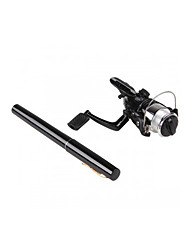 Black Mini Portable Pocket Pen Shape Fishing Rod Pole