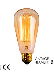 Gmy 1pc ST64 fil 13molybdenum bulbe cru 40w e26 chaud ampoule AC120V blanc décorer