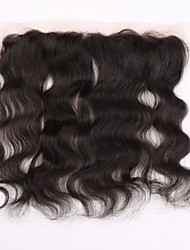 "1pcs  Lace Frontal Closure Body Wave Size 13""x4"" Natural Black Free Middle 3 Part Virgin Human Hair Full Lace Frontal"