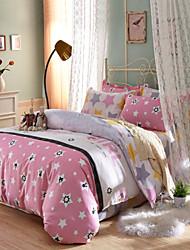 Stars 100% Cotton Bedclothes 4pcs Bedding Set Queen Size Duvet Cover Set