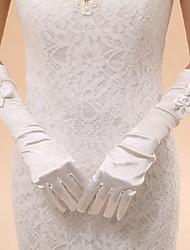 Elbow Length Fingertips Glove Elastic Satin Bridal Gloves Party/ Evening Gloves Spring Summer Fall Winter Bow