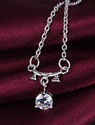 2016 New Fashion Libra diamond Beauty Silver Necklace For Women&Lady