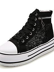 Scarpe Donna-Sneakers alla moda-Tempo libero / Formale / Casual-Comoda-Piatto-Di corda-Nero / Bianco