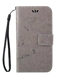 Pour Samsung Galaxy Coque Porte Carte Avec Support Clapet Relief Magnétique Coque Coque Intégrale Coque Papillon Cuir PU pour Samsung