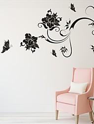Romance / De moda / Florales Pegatinas de pared Calcomanías de Aviones para Pared,PVC S:31*53cm/ M:42*71cm/ L:55*92cm