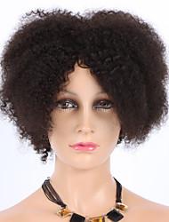 """celebridades pelucas de cabello humano 8 """"de la máquina sin cola ninguno de encaje remy brasileño virginal rizado cyrly hechas pelucas de"""