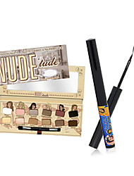 nude 'titude eyeshadow palette + l'eye-liner mat baume schwing