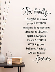 We Are Family Living Room Home Decorations Quote Wall Decals House Rules Diy Bedroom Removable Vinyl Wall Stickers