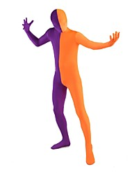 Zentai Suits Ninja Zentai Cosplay Costumes Purple / Orange Patchwork Leotard/Onesie / Zentai Lycra / Spandex Unisex Halloween / Christmas