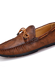 Men's Shoes Casual Boat Shoes Brown / Navy
