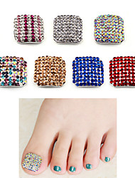 1pcs Luxury 3d Alloy Toe Nail Art Decorations Glitter Rhinestone Full Cover Fake Toenails DIY Manicure Tools