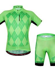 Wosawe® Camisa com Shorts para Ciclismo Unissexo Manga Curta MotoRespirável / Secagem Rápida / Design Anatômico / Bolso Traseiro /