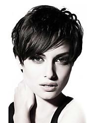 rihanna chic et coupé très mode perruques de cheveux humains pour les femmes noires perruques