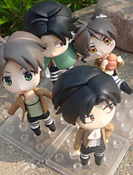 Attack on Titan PVC One Size Anime Action Figures Model Toys Doll Toy 4pcs 11cm