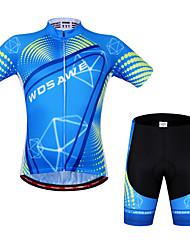 WOSAWE Maillot de Ciclismo con Shorts Unisex Manga Corta Bicicleta Manguitos Camiseta/Maillot Shorts/Malla corta Sets de Prendas Secado