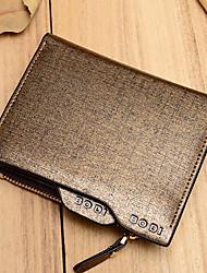 Women PU Bi-fold Wallet / Card & ID Holder-Blue / Gold