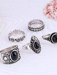 Ring Daily / Casual Jewelry Alloy Statement Rings 1set,One Size Gold