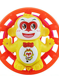 Monkey Shape Light Up Plastic Red / Yellow  Music Toy For Kids