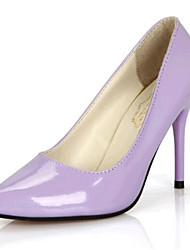 Women's Shoes Leatherette Spring / Fall Heels Wedding / Party & Evening Stiletto Heel Black / Yellow / Purple / Red / White