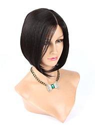 "12"" Straight  Unprocessed Virgin Human Hair Bob Wig For Black Women"