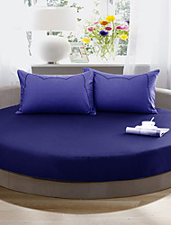 Round Bedsheet Diameter 2m or 2.2meter +2Pcs Pillowcases 100 Cotton Mattress Cover/Case
