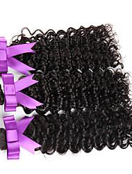 """3 muchas piezas 10-30 """"onda peruano de las tramas de cabello virgen de color natural de Remy haces de la armadura del pelo ondulado"""