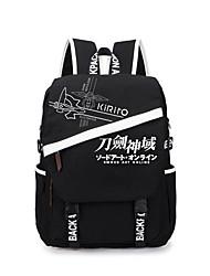 Bolsa Inspirado por Sword Art Online Fantasias Anime Acessórios de Cosplay Bolsa / mochila Preto Tela Masculino / Feminino