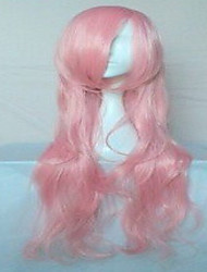 Popular Pink Synthetic Hair Woman's Cosplay Wig Party Wigs Long Loose Wavy Animated Wigs Cartoon Wigs  Full Wig
