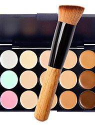 15 Concealer/Contour Wet / Matte / Shimmer CreamMoisture / Sun Protection / Coverage / Whitening / Long Lasting / Concealer / Waterproof